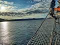 am Morgen auf See