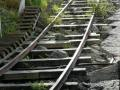 Die Schienen der Bergbahn