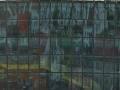 Spiegelung Häuser in Konzerthalle
