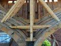 Torso eines Holzschiffes in der Werft