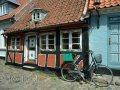 Fachwerkhaus mit Fahrrad