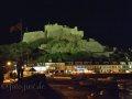 Castle Mont Orgueil bei Nacht