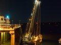unser Schiff trockengefallen am Gorey-Pier