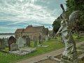 Kirche und Friedhof St. Brelade mit Engel