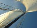 Blick zum Mast hinauf