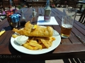 Fish and Chips with Lager