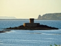 La Rocco Tower in der untergehenden Sonne