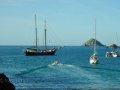 Die Zephyr in der Dixcart Bay vor Anker
