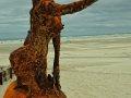Meerjungfrau Eisenskulptur